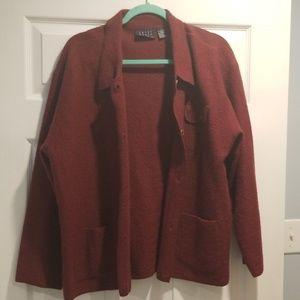 Red vintage light cardigan